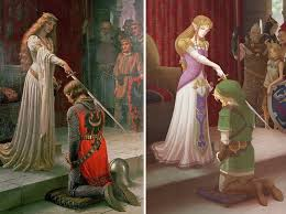 edmund leighton s the accolade meets legend of zelda by missy pena