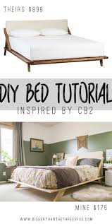 cb2 bedroom furniture. Make This Mid Century Modern Bed Inspired By One From CB2! Cb2 Bedroom Furniture