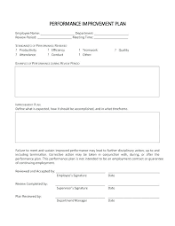 Employee Corrective Action Plan Sample Template Monster Affiliate