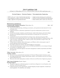 Resume Example Telecommunication Engineer Resume Ixiplay Free