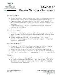 Good Resume Objectives Mesmerizing Resume Objectives For Any Job Sample Objectives In Resume For It Job
