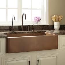 Kitchen Bar Attractive Kitchen With Single Bowl Antique Copper