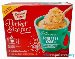 Review Duncan Hines Perfect Size For 1 Cake Mixes Confetti Cake