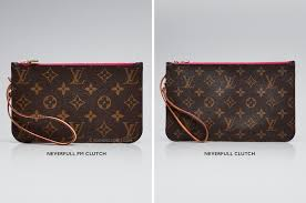 Louis Vuitton Neverfull Size Chart Neverfull Clutch Size Difference Guide Yoogis Closet Blog