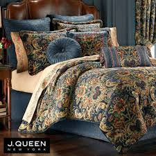 Small Picture Cassandra Jacobean Floral Dark Blue Comforter Bedding by J Queen