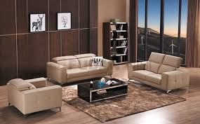 modern real leather sofa set with retractable headrestetal legs