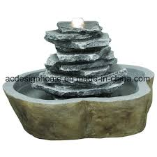 china hot ing unique garden decor piece polystone resin outdoor water fountain with led light china ball fountain garden water fountain