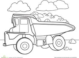 Small Picture Color a Car Dump Truck Worksheet Educationcom