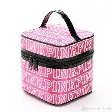 vs love pink cosmetic bag victoria clic love pink secret cosmetic bags double zipper handbag portable storage bag makeup bags hot por makeup s
