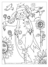 Small Picture Scarecrow Colouring Pages