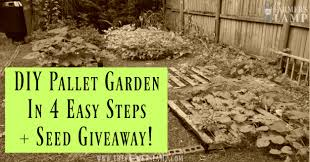 diy free pallet garden in 4 easy steps seed giveaway