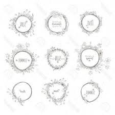 page rustic elements. Perfect Elements Photostock Vector Rustic Hand Drawn Flower Elements Set Floral  Doodles Branches Flowers Laurels And Frames Bord Page Rustic Elements