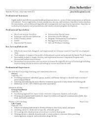 Ideas Of Behavioral Health Counselor Resume Sample Resumes With
