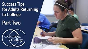Tips for adults returning to college