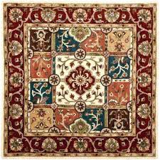 10 foot square area rug square area rugs rugs the home depot heritage multi red 8 ft x 8 ft square area rug 10 foot square jute rug