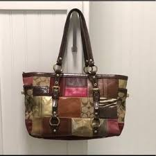 Authentic COACH Holiday Patchwork Purse