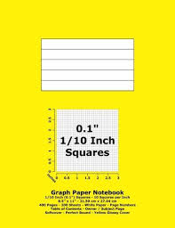 9781533397287 Graph Paper Notebook 0 1 Inch 1 10