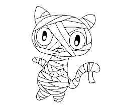 Small Picture Doodle the cat mummy coloring page Coloringcrewcom