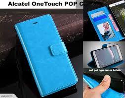 Alcatel POP C3 Fine leather wallet case ...