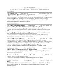 Economics Major Resume