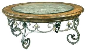 wrought iron coffee table wrought iron coffee tables and wood table round shaped stunning furniture glass