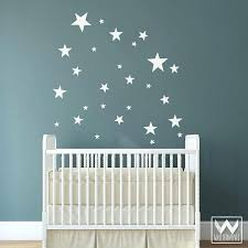 baby boy wall decorations alternatives stars wall decals for nursery boy white decorations stickers removable babies