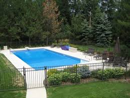 Plain Rectangular Inground Pool Designs Rectangle Elm Grove To Beautiful Ideas