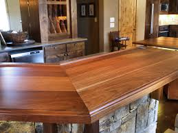 Rustic Bar Top Furniture Rustic Waterlox Countertop Finishes For Traditional