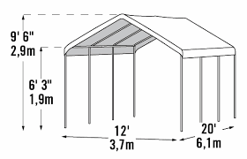 shelterlogic 12 x 20 super max mercial grade 8 leg canopy shelter 23