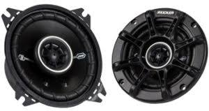 best car speakers for bass. kicker 41dsc44 4 inch car speakers with good bass best for