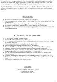 Wellsuited Barback Resume Skills Very Attractive Sample
