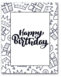Color pictures of piñatas, birthday cakes, balloons it's my birthday, too! 61 Printable Birthday Coloring Pages Image Inspirations Madalenoformaryland