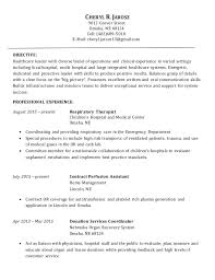 Respiratory Resume Best Cheryl's Resume