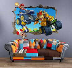 super mario wall decal 3d art stickers
