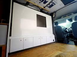 Van Interior Design Enchanting RV Murphy Bed Installation CargoVanConversion