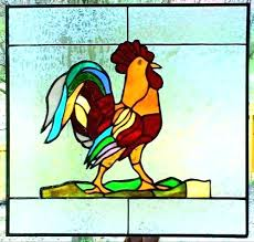 stained glass rooster ted the vintage lamp value