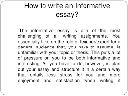 informative essay informal essay informal essay topics family how to write an informative essay