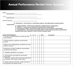 Job Performance Evaluation Form Templates Review Form Template Rome Fontanacountryinn Com