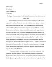 research paper outline the day of the dead origin traced back to  7 pages research paper