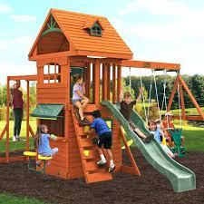 wooden swing sets for deluxe clubhouse set outdoor childrens craigslist kids garden swings backyard