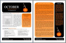 Word Templates For Newsletters Worddraw Com Free Halloween Newsletter Templates