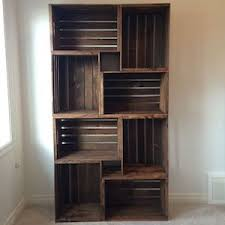 Rustic wood furniture ideas Black Plumbing Pipe Diy Crate Bookshelf Wood Crates Sandpaper Stain Bracket Prudent Penny Pincher 120 Cheap And Easy Diy Rustic Home Decor Ideas Prudent Penny Pincher