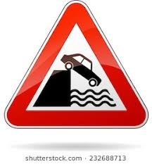 ilration of triangular isolated sign for water warning