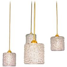 1960s crystal textured pendant lamps set of four italy for at 1stdibs