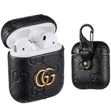 Designer Airpod Case Sunnee For Airpods 1 2 Case Luxury Leather Shockproof Airpod Cover Carabiner Headphone Designer Fashion Fun Cool Keychain Design Skin Protective Cases