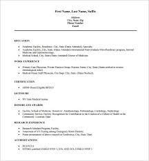 Medical Resume Format Pelosleclaire Com