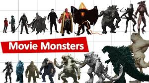 Cthulhu Size Comparison Chart The Ultimate Movie Monsters Size Comparison
