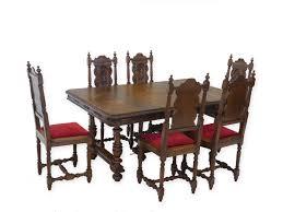 Antike Fundgrube Essgruppe Tischgruppe Esstisch 6 Stühle