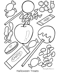 Small Picture Halloween Coloring Book Pages for Kids 011
