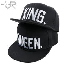 Men's Hats KING and QUEEN Snapback Pair <b>Fashion Embroidered</b> ...